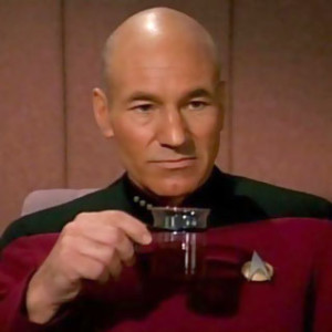 Jean-Luc drinking tea